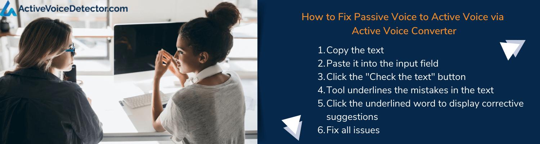 how to fix passive voice to active voice online